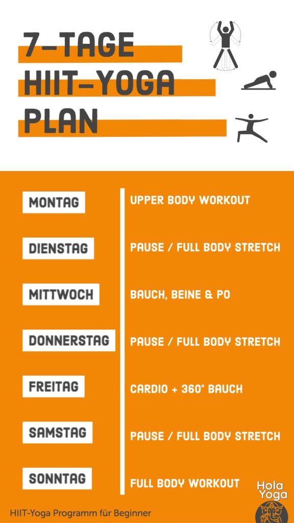7 Tage Workout plan